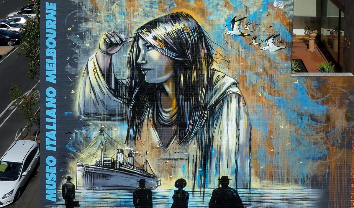 Alice Pascini. Passengers. Dedication to Italian emigrants