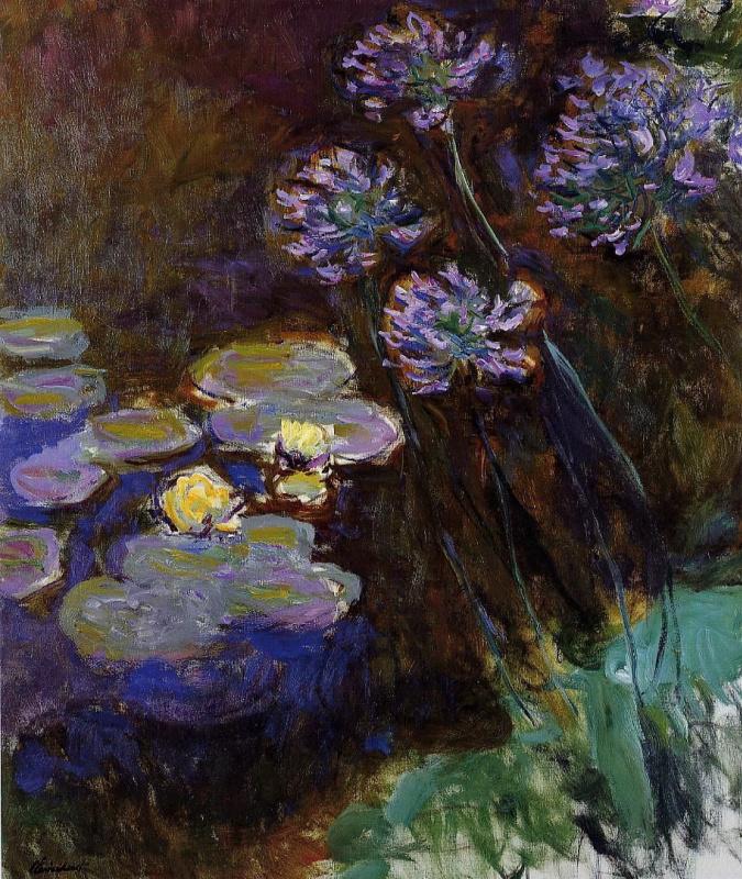 Клод Моне. Водяные лилии и агапантус
