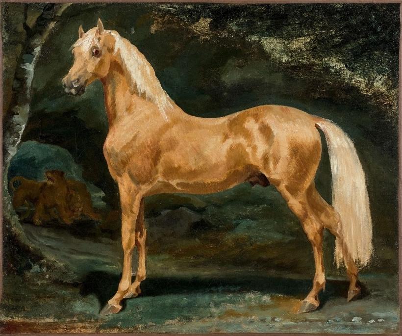 Théodore Géricault. Arab stallion scared by lions