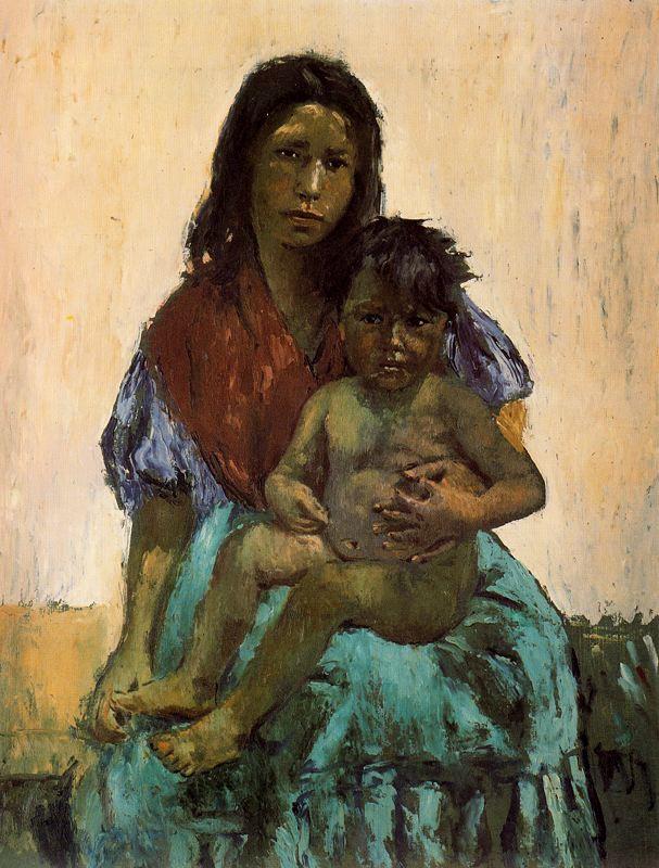 Рафаэль Эстрани. Ребенок на руках у матери