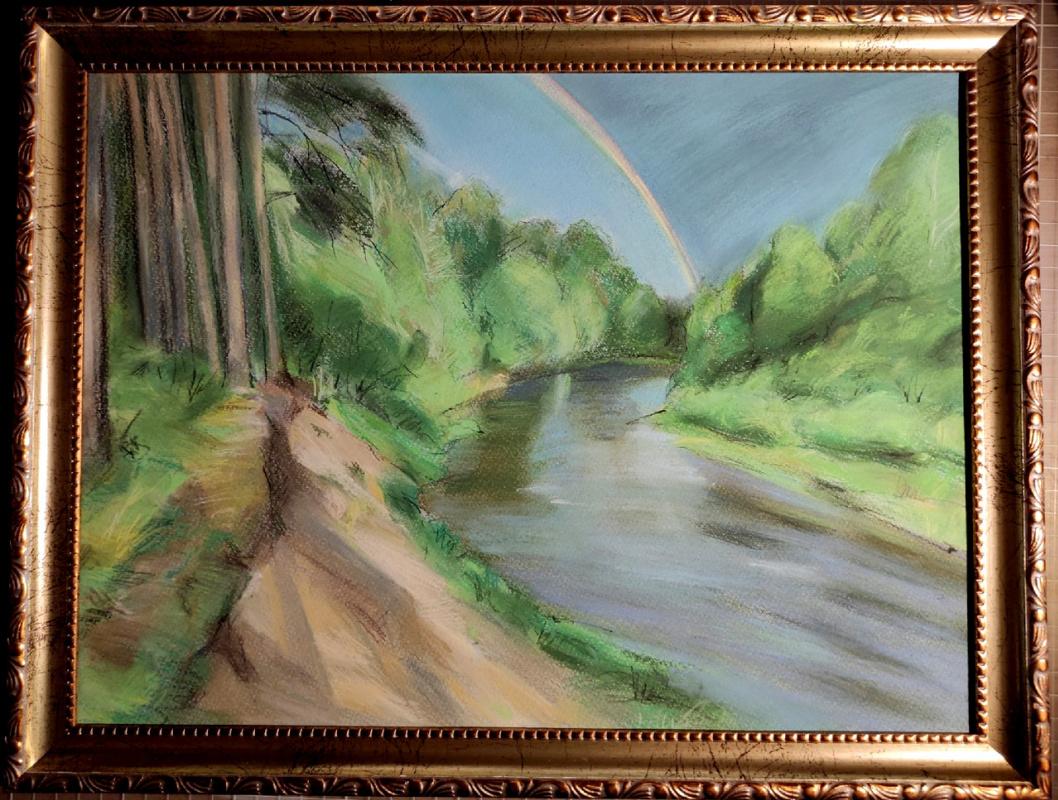 Ксения Михайловна Стеценко. By the river