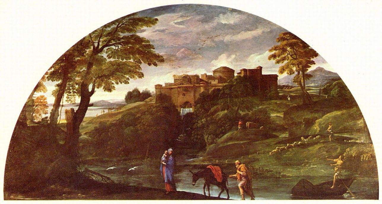 Annibale Carracci. Landscape with the flight into Egypt
