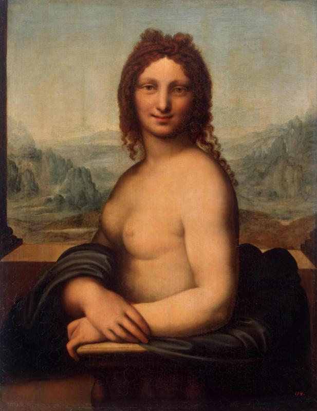 """Шедевры  неизвестных художников. Обнаженная женщина (""""Донна Нуда""""). Школа Леонардо да Винчи"""