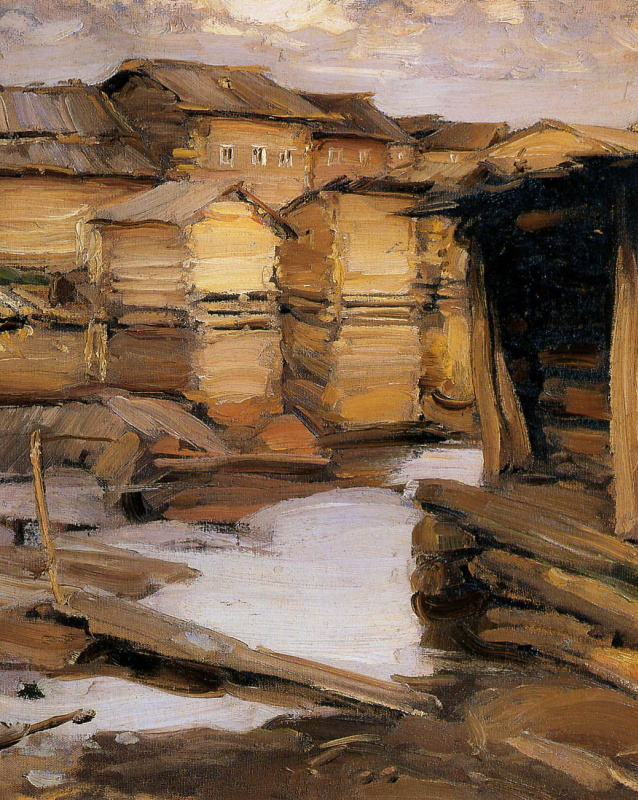 Абрам Ефимович Архипов. Деревня