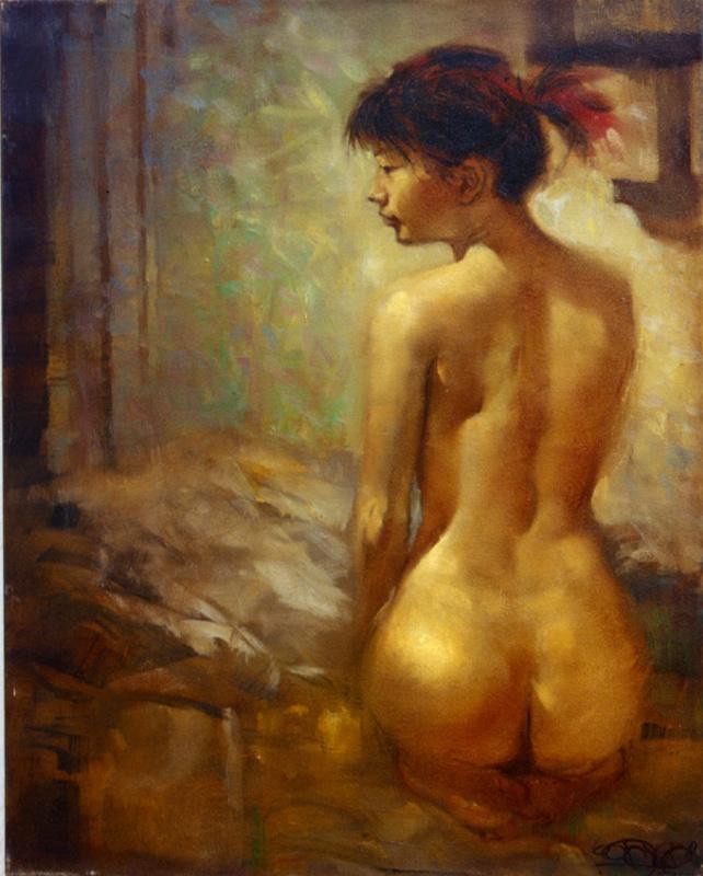 Unknown artist. Nude girl