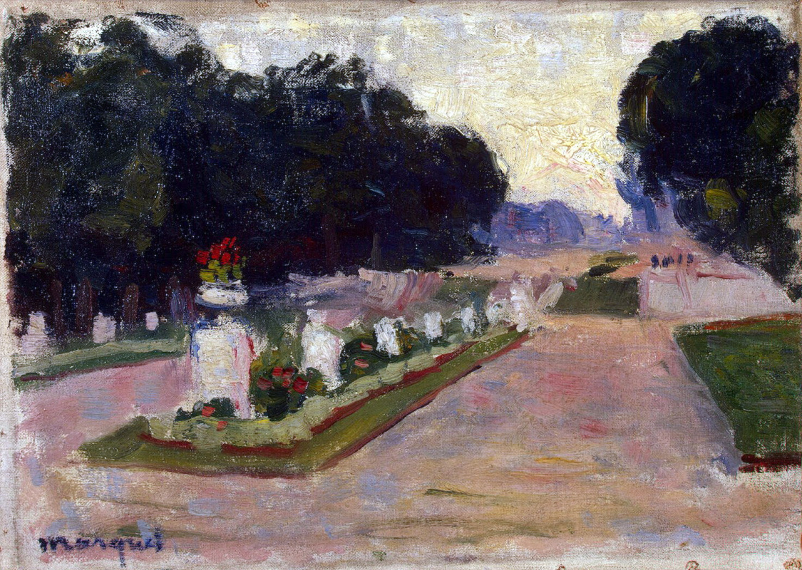 Albert Marquet. Alley of the Luxembourg garden