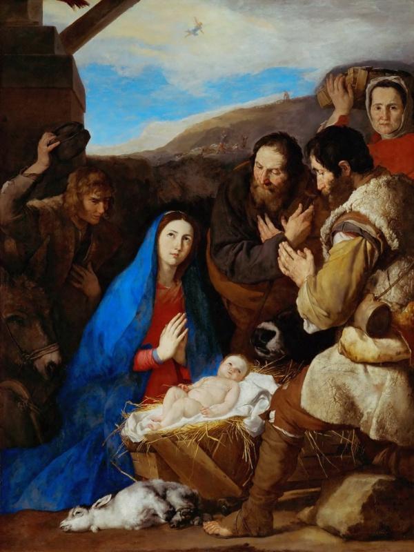Jose de Ribera. The adoration of the shepherds