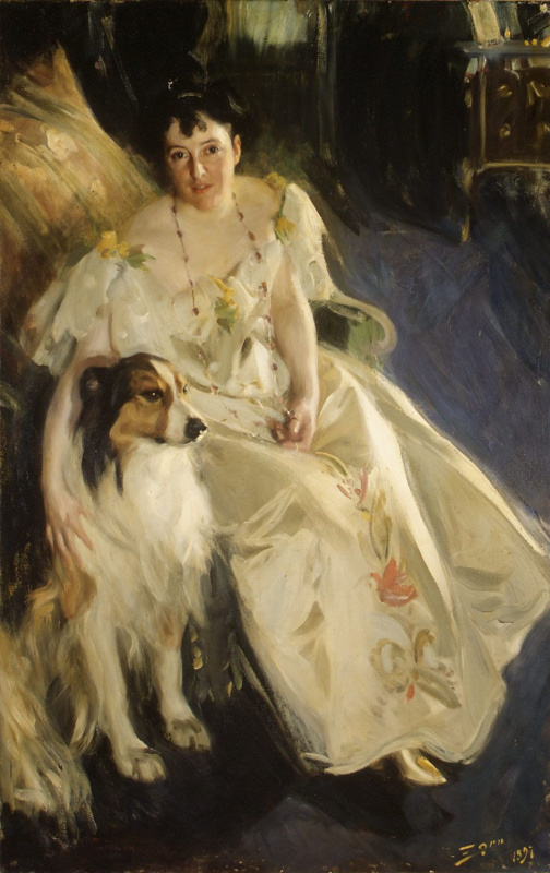 Anders Zorn. Mrs. Walter Rathbone Bacon