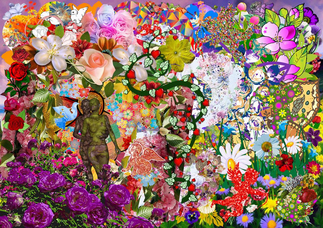 Random Human. Flower children