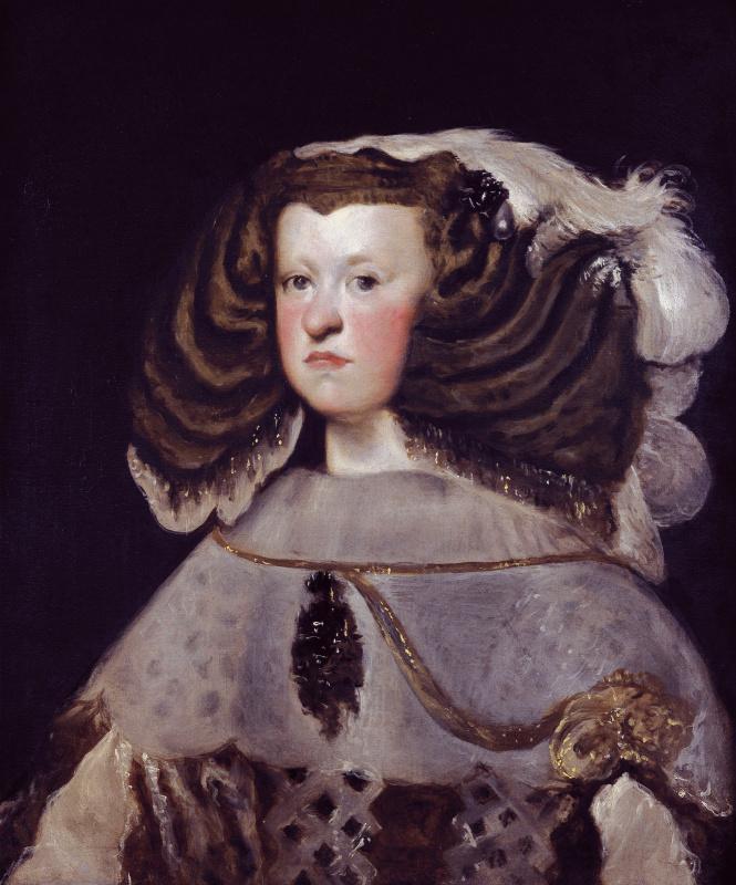 Diego Velazquez. Portrait of Queen Marianna of the Austrian