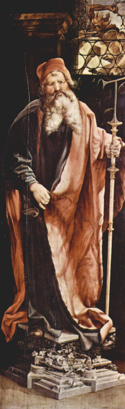 Маттиас Грюневальд. Изенгеймский алтарь, будничная сторона.