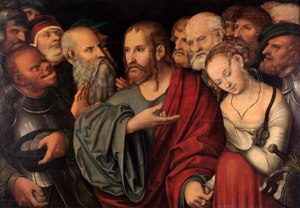 Лукас Кранах Младший. Христос и грешница. после 1532
