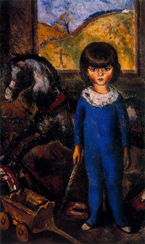 Arturo Souto. Child and toy horse