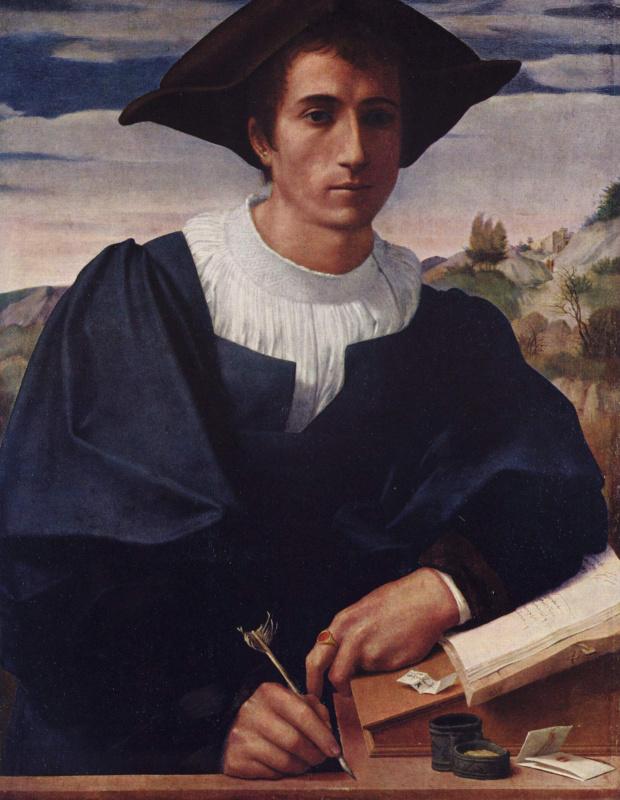 Франческо Франчабиджо. Молодой человек за конторкой