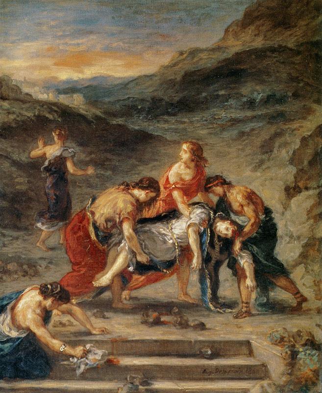 Eugene Delacroix. Sveti Stefan, now his disciples