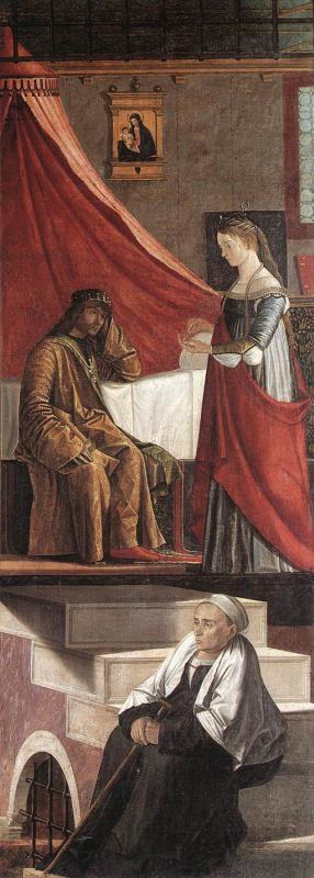 Vittore Carpaccio. The arrival of the English ambassadors, fragment