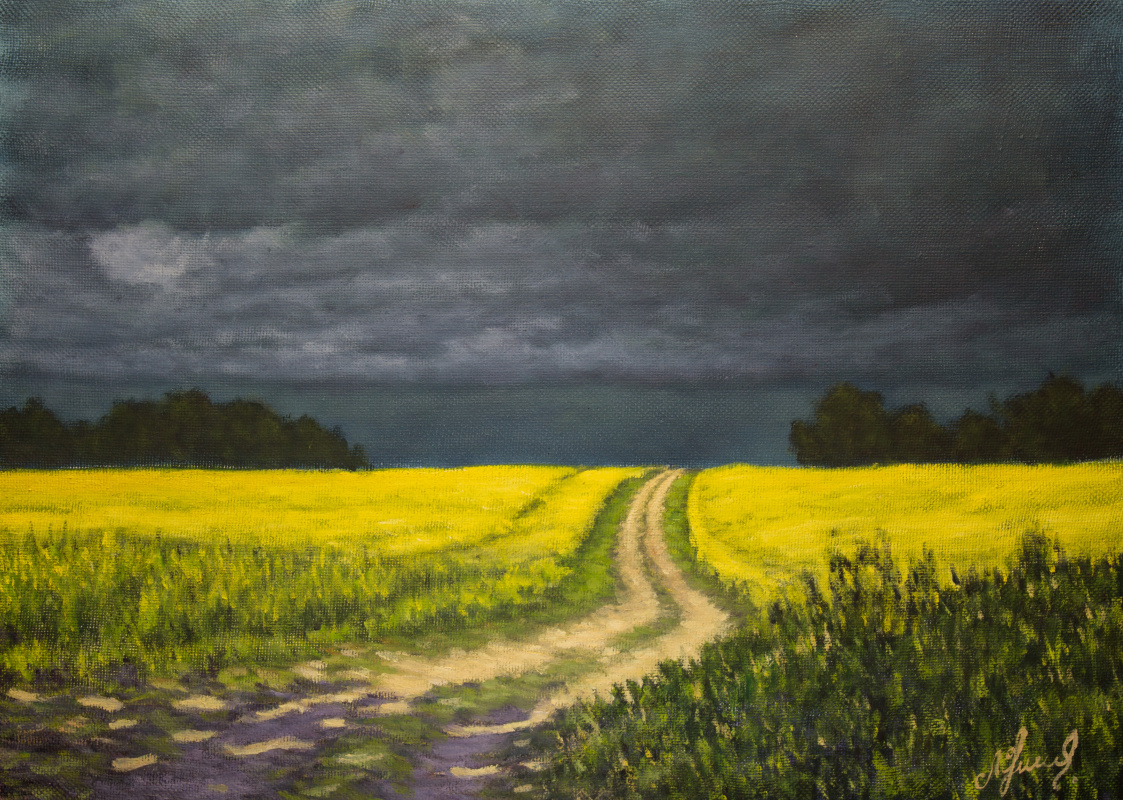 Valery Levchenko. No. 521 Before a thunderstorm.