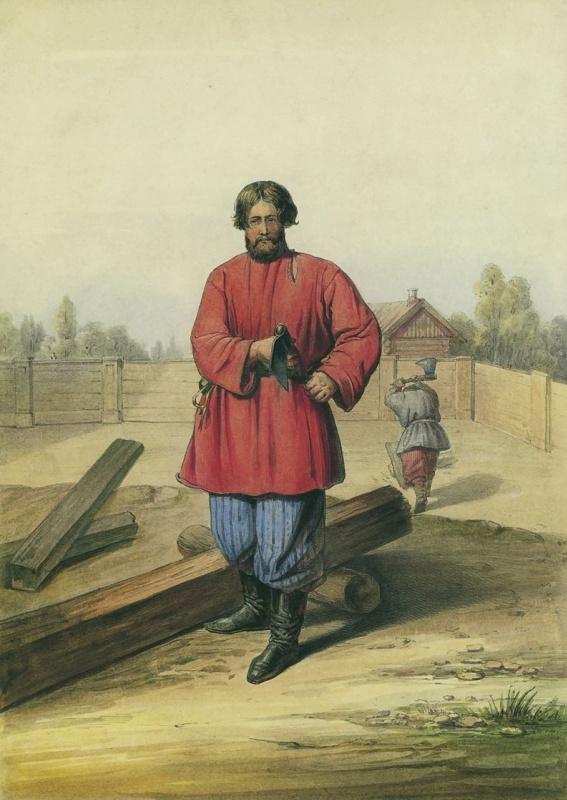 Огюст Монферран. Плотники