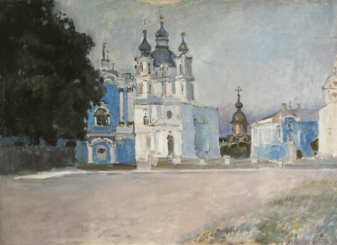 Степан Петрович Яремич. Вид Смольного Собора