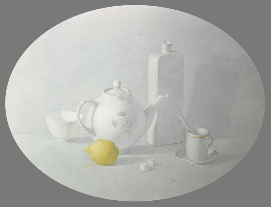 Alexander Leonidovich Mukhin-Cheboksary. Tea with lemon