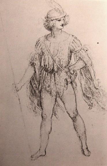 Leonardo da Vinci. Salai in the fantasy costume