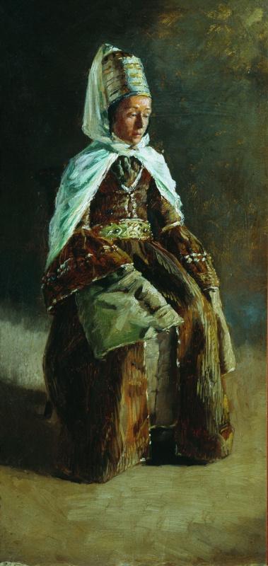 Николай Александрович Ярошенко. Кабардинка. 1880-e Этюд