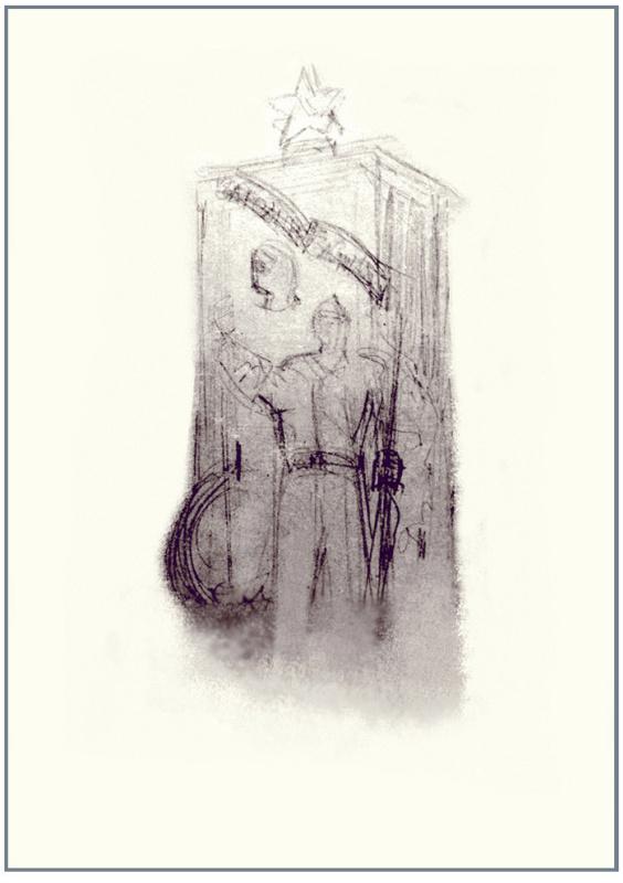 Федор Федорович Федоровский. Эскиз памятника Советским воинам в Солнечногорске