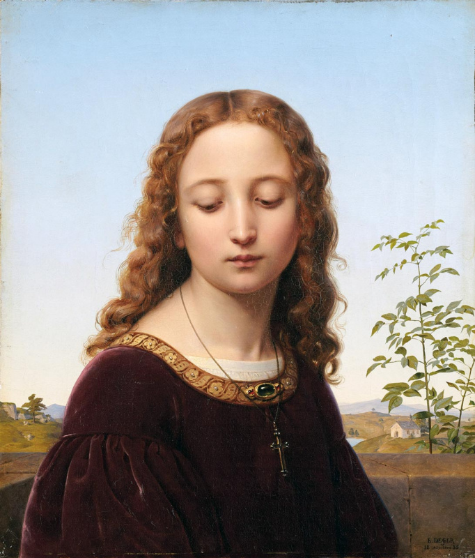 Эрнст Дегер. Portrait of a Young Girl