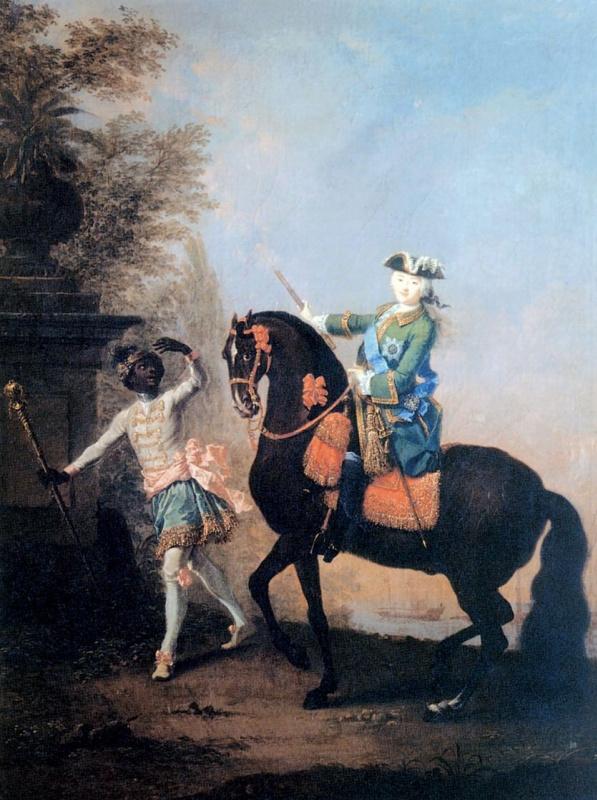 Конный портрет Елизаветы Петровны с арапчонком