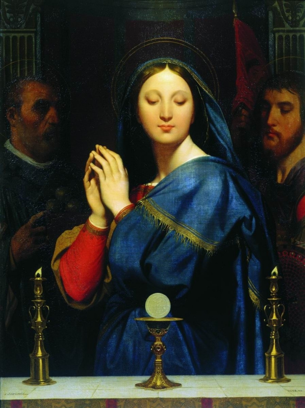 Jean Auguste Dominique Ingres. Madonna with Chalice
