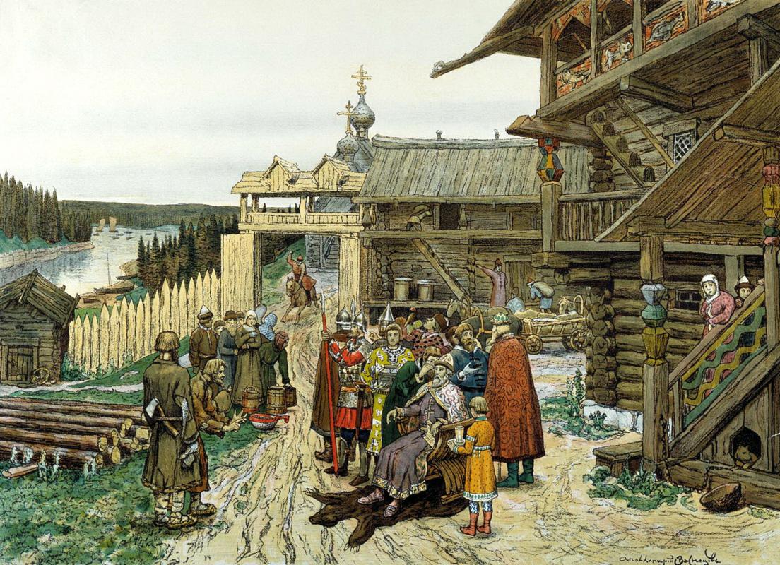 Аполлинарий Михайлович Васнецов. Двор удельного князя