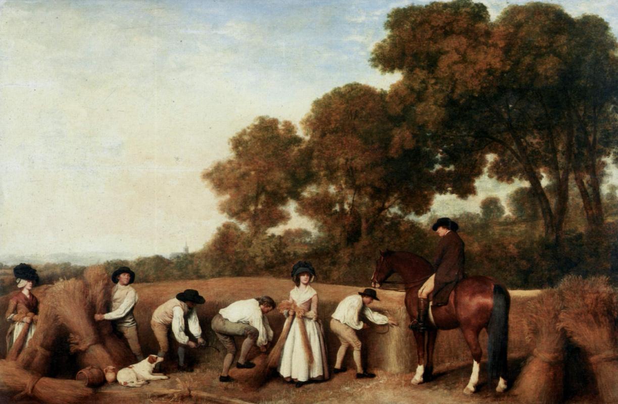 George Stubbs. The harvest