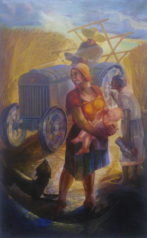 Петр Иванович Кодьев. В колхозной степи