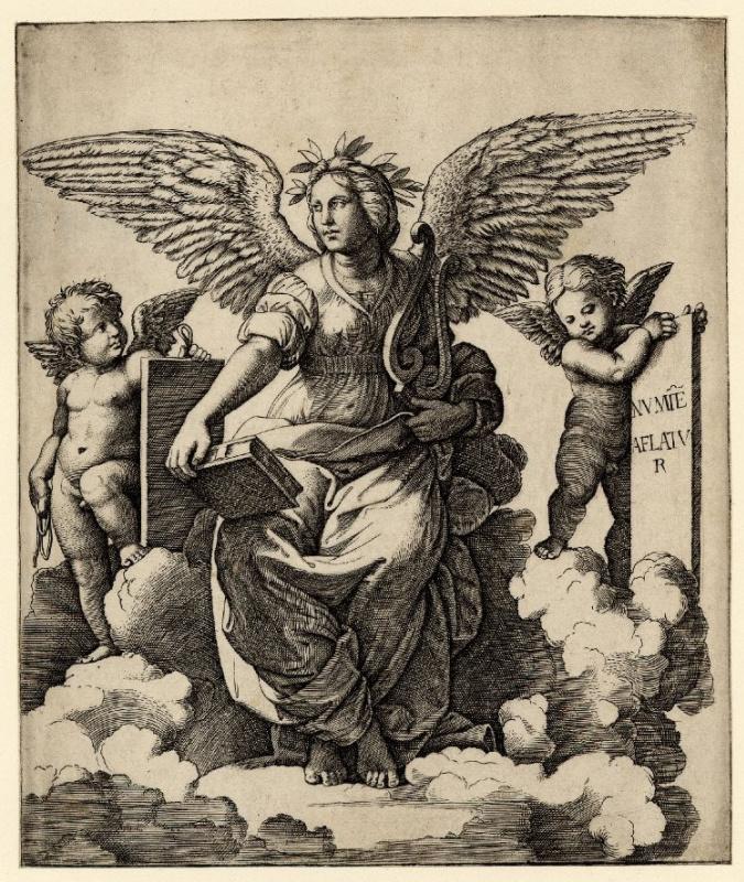 Маркантонио Раймонди. Поэзия. По фрагменту росписи Рафаэля в Станцах Ватикана