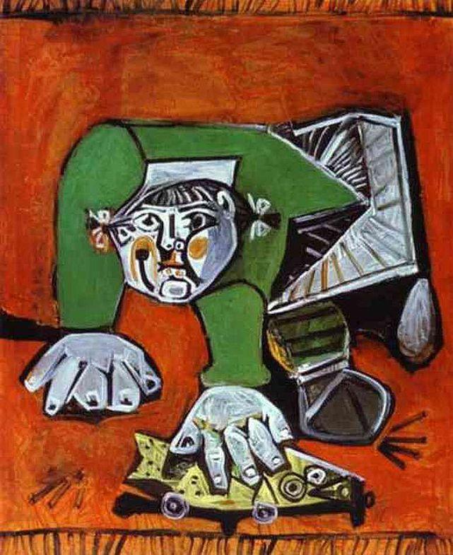Пабло Пикассо. Палома с резиновой рыбкой
