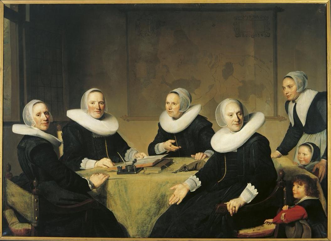 Ian Cornelis Versprop. Groepsportret van de regentessen van het Heilige Geesthuis te Haarlem