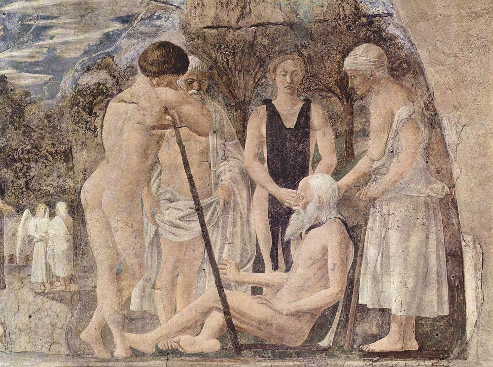Пьеро делла Франческа. Смерть и погребение Адама, фрагмент