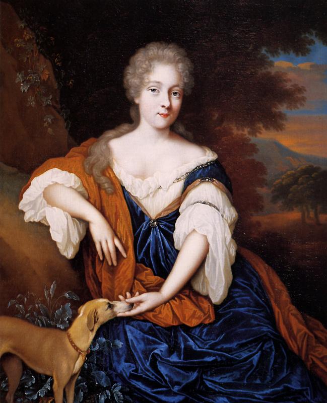 Йохан Ван Хаенсберген. Молодая девушка в синем