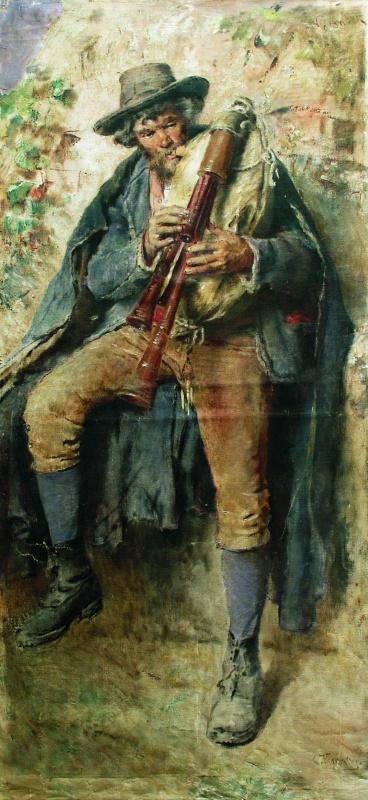 Константин Егорович Маковский. Волынщик