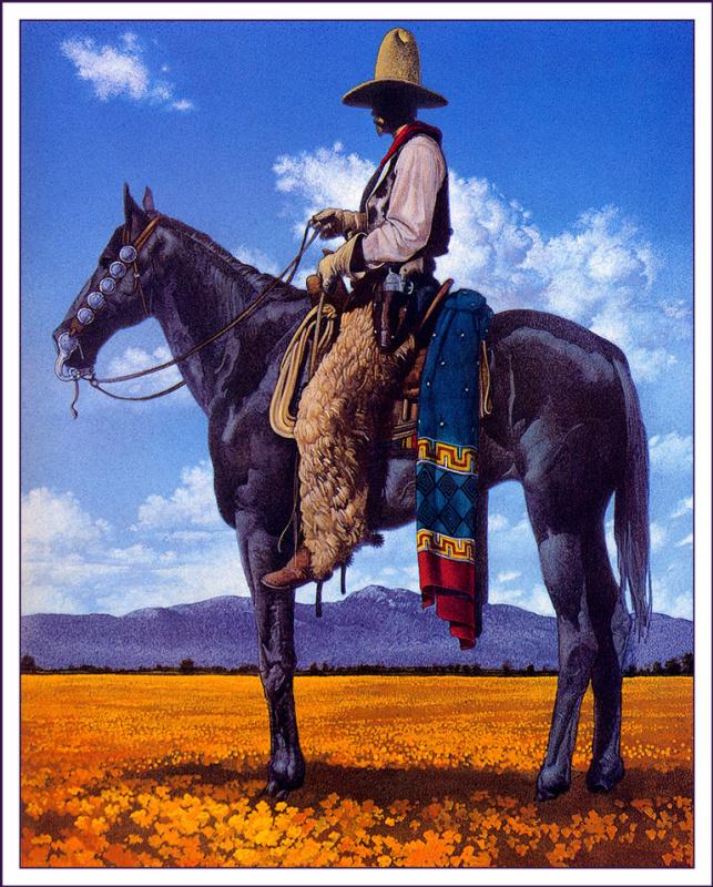 Christopher Fox Payne. Cowboy on a horse