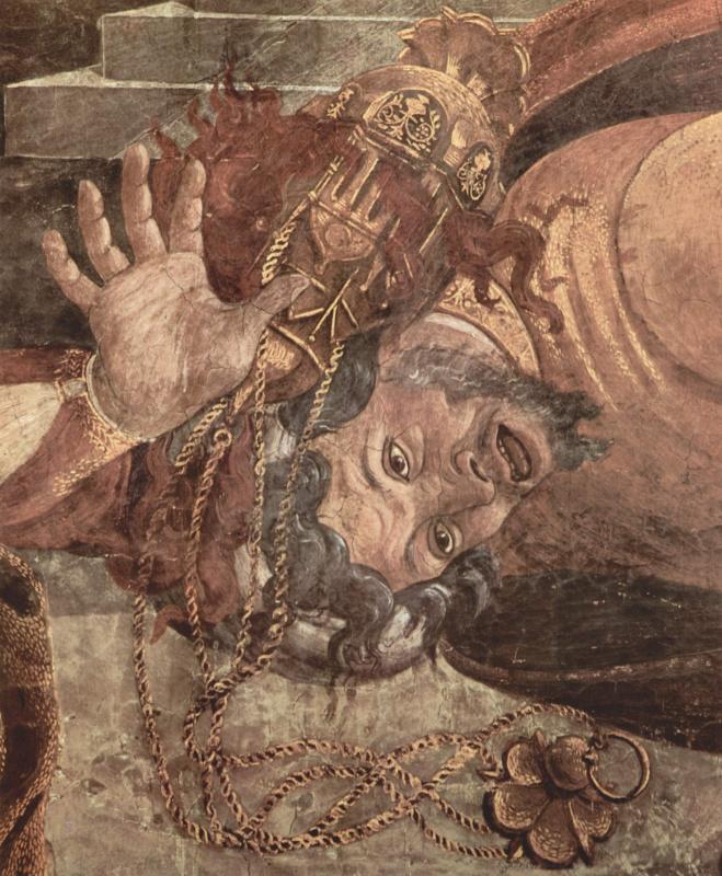 Фрески Сикстинской капеллы в Риме, Наказание левитов. Деталь