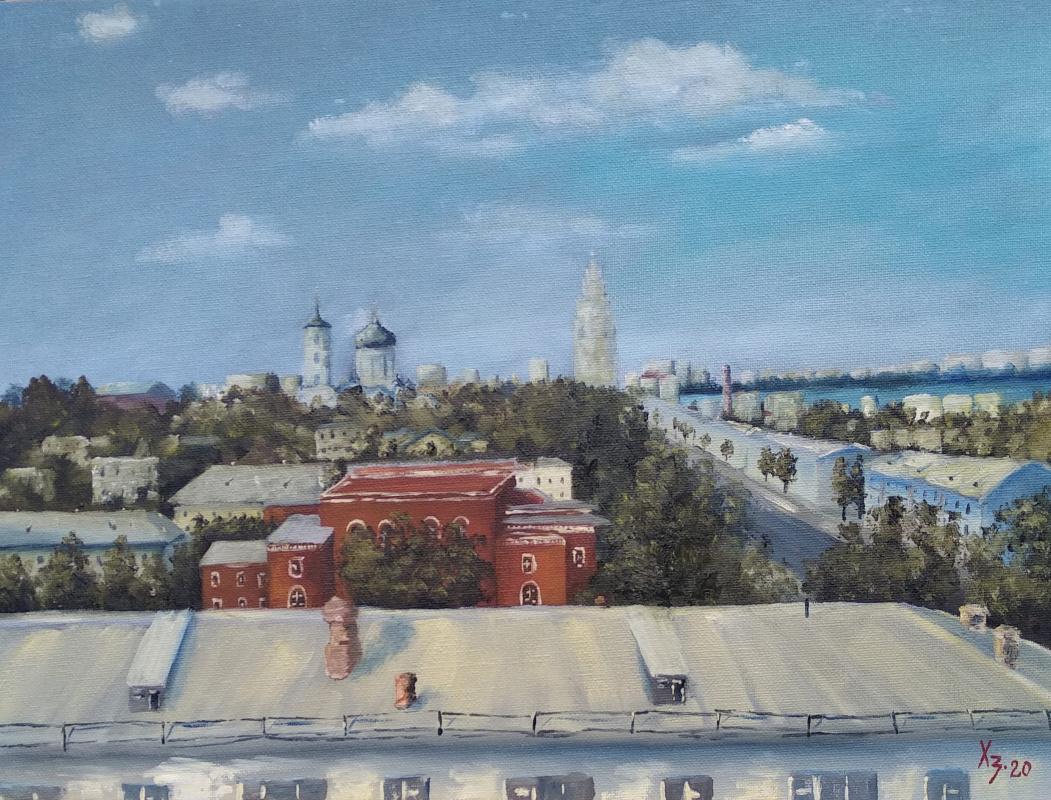 Sergei Nikolayevich Khodorenko-Zatonsky. Voronezh. Roofs. View from the window