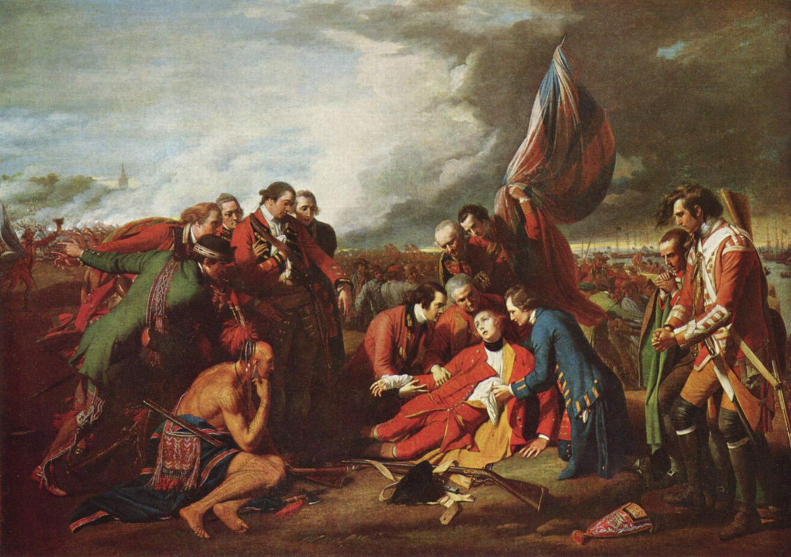 Benjamin West. The death of General Wolfe