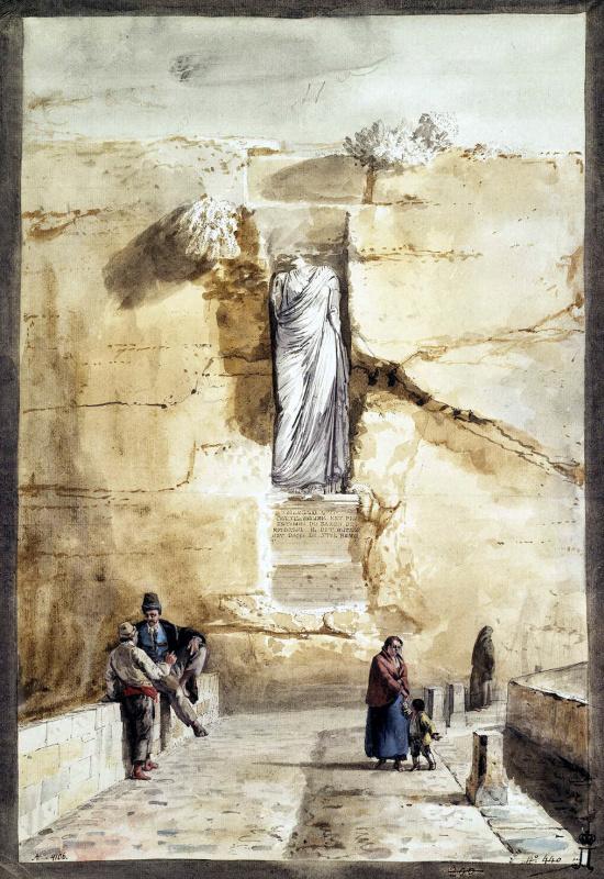 Жан-Пьер-Лоран Уэль. Античная статуя в Раббато на острове Гоцо