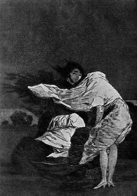 """Франсиско Гойя. """"Скверная ночь"""" (Серия """"Капричос"""", страница 36)"""