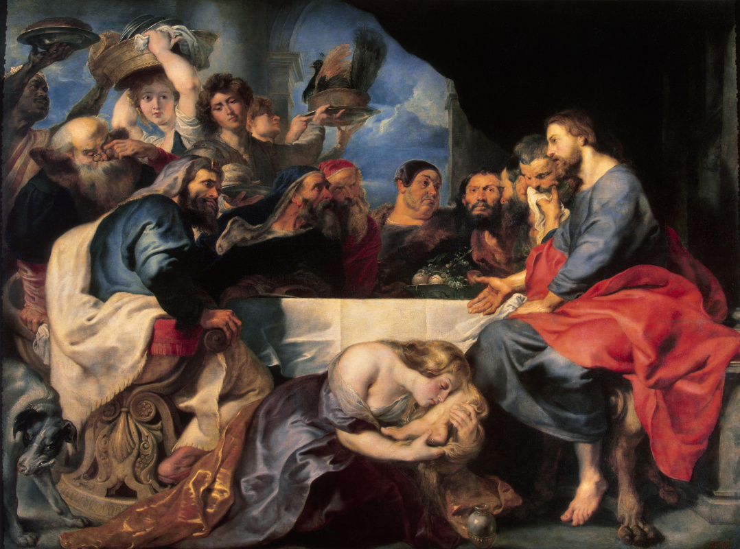 Anthony van Dyck. A feast at Simon the Pharisee