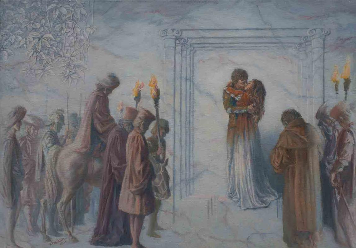 "Sergey Chaikun. Illustration for the Jubilee Edition of Shakespeare ""Romeo and Juliet"" Publishing House ""VitaNova"" 2013"