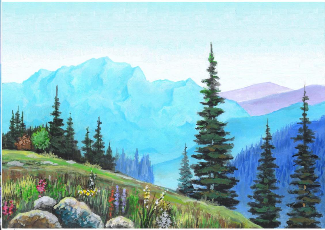 Eduard Madaminov. Mountain landscape 1. Tien Shan