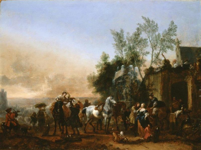 Phillips Wouverman (Wouverman). The return from the hunt
