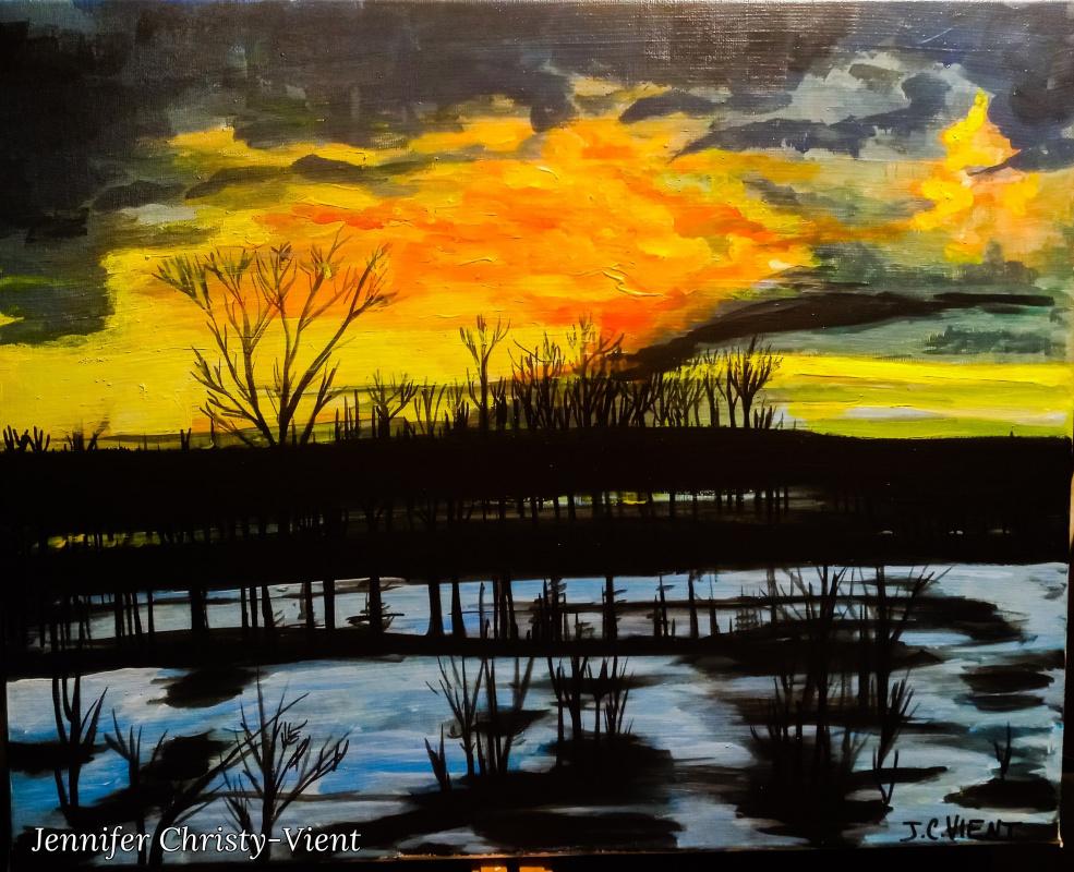 Jennifer Christy-Vient. Sunset in Ukraine